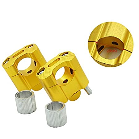 SGTGB Motorcycle 22mm 28mm CNC Aluminum Handlebar Risers Adjustable Fat Bar Clamps Universal Compatible with K T M YZF 7//8 1-1//8 Dirt Pit Bike Color : Gold