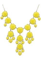 Color Bubble BIB Statement Fashion Necklace - Yellow