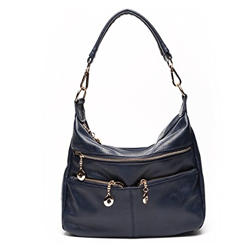Tote Ladies Bags Ali Victory Women Bag Shoulder Top handle Blue Hobo Leather PU RzrvRPnx