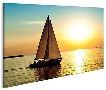 Quadro moderno barco a vela V5 Impresión sobre lienzo ...