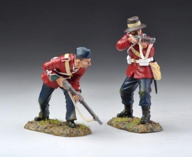 Zulu War 24th Foot British Infantry SFA016 - Rifleman & Advancing Rifleman Retired Set Thomas Gunn 1/32 Painted Metal Toy Soldiers Britains Frontline Collectors - British Line