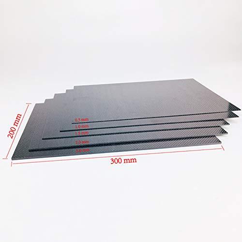 XuBa 3K Full Carbon Fibre Sheet Shockproof Glossy Surface Flying Model Board 230 ?? 170 ?? 0.5Mm