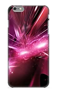 Design High Impact Dirt/shock Proof Case Cover For Iphone 6plus 5.5 (Abstract Cool Color Shades Pattern Texture Shapes Violet Light Artistic Abstract)