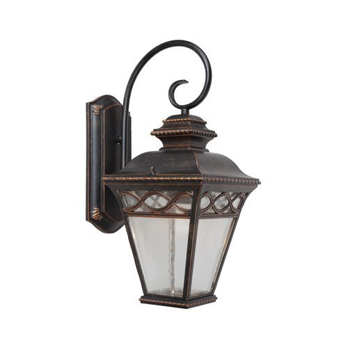 Large Outdoor Sconce - Y Decor EL8088LDIORB Modern, Transitional, Traditional 1 Light Exterior Outdoor Wall Sconce Oil Rubbed Bronze Finish with Clear Seedy Glass Large, Oil Rubbed Bronze, Brown