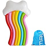 """F.O.T Inflatable Rainbow Pool Float, Giant Swimming Inflatable Lounge Chair, Hammock, Drifter, Luxury Swimming Fun Cool Party Water Pool for Adults Kids 71""""X39"""""""