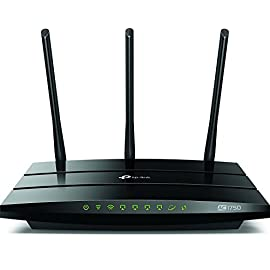 TP-Link AC1750 Smart WiFi Router - Dual Band Gigabit Wireless Internet Router for Home, Works with Alexa, VPN Server, Parental Control&QoS(Archer A7) 29 Wireless internet router works with Alexa, compatible with all Wi-Fi devices, 802. 11AC and older Dual band router upgrades to 1750 Mbps high speed internet(450mbps for 2. 4GHz + 1300Mbps for 5GHz), reducing buffering and ideal for 4K streaming Comparable to the router NETGEAR R6700 3 external antennas for long range Wi-Fi