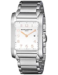 Baume & Mercier Men's 10020 Dial Stainless Steel Silver Dial Watch