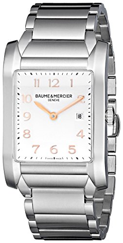 Baume-Mercier-Mens-10020-Silver-Dial-Stainless-Steel-Watch