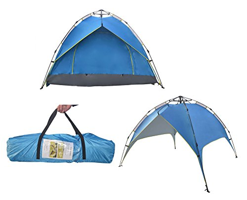 Price comparison product image Large 1-4 Person Instant Open Automatic Spring Tents Waterproof for Shelter Outdoor Sports Camping Hiking Travel Beach with Zippered Door and Carrying Bag