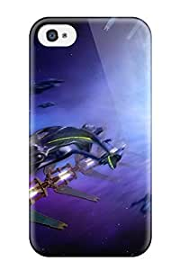 Hot 2455095K44123567 Hot Style Protective Case Cover For Iphone4/4s(spaceship)