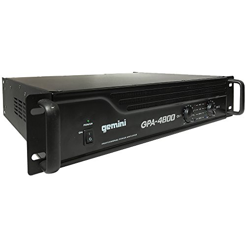 Gemini GPA-4800 4000W Professional DJ Power Amplifier by Gemini