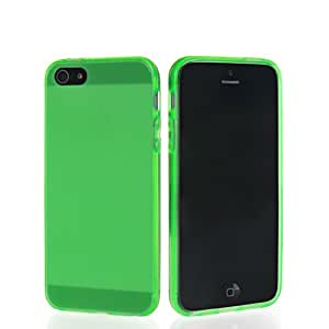 HKCFCASE Carcasa de TPU Gel Caso Funda silicona Case Para Apple Iphone 5 5G 5S Green