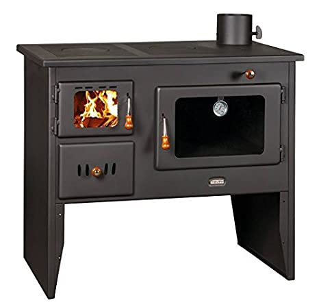 Estufa de leña hierro fundido placas Log quemador para cocinar en el horno Prity 14 kW: Amazon.es: Bricolaje y herramientas