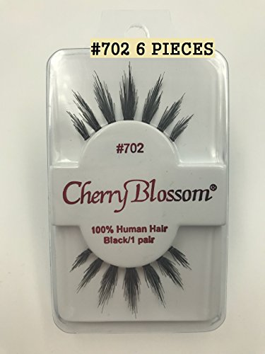 702 Blossom (Cherry Blossom Fake Eyelashes Style #702 100% HUMAN HAIR (6 PIECES))