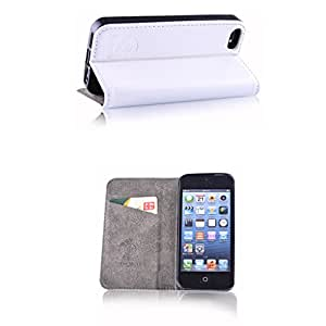 Slim Style White Cover–Funda de piel sintética para iPhone 5