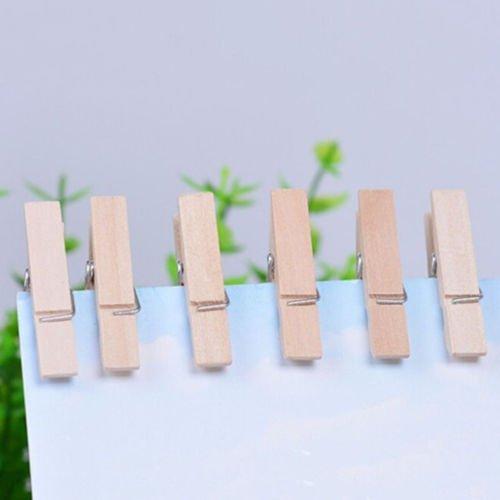 50 Pcs Wood Clothespins Wooden Laundry Clothes Pins Clips