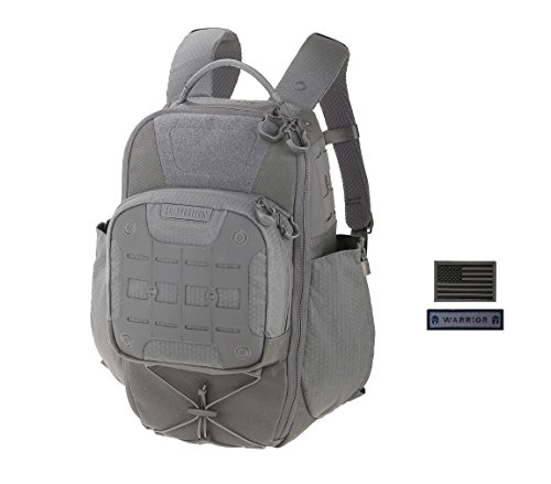 Maxpedition LITHVORE Backpack (GRAY) + FREE Warrior & Flag Patch