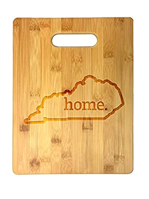 Home State Outline USA United States Laser Engraved Bamboo Cutting Board - Wedding, Housewarming, Anniversary, Birthday, Father's Day, Gift