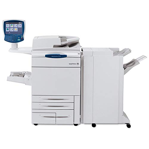 Xerox WorkCentre 7775 Tabloid Color Laser Multifunction Copier - 75ppm, Copy, Print, Scan, 2 Trays, High-Capacity Tandem Tray, Offset Catch Tray (Renewed)