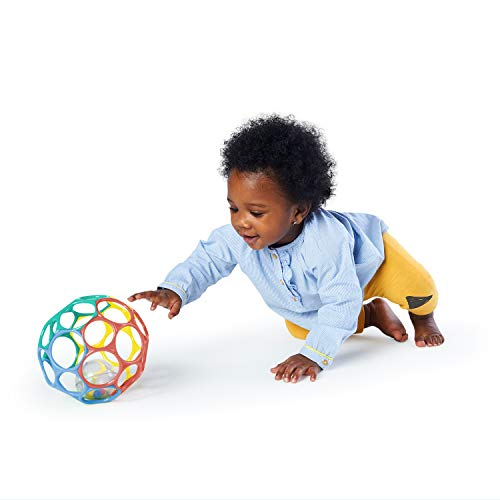 41KuiVqd7NL - Bright Starts Oball 2-in-1 Roller Sit-to-Stand Push Toy