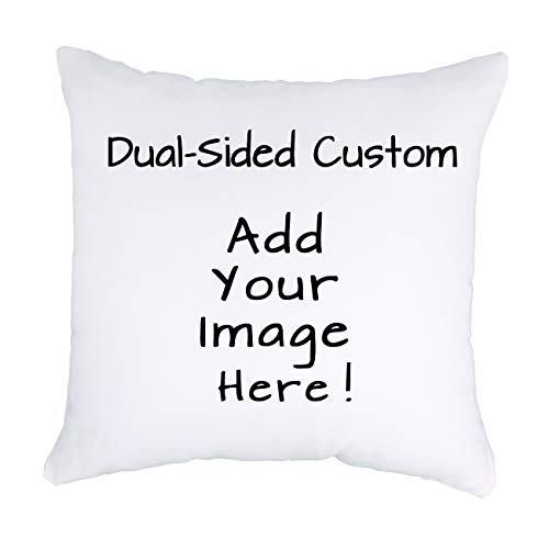 Luxbon Dual Sided Custom Design Photos Or Text Throw Pillow Case Outdoor Indoor Personalized Pet Photo Customized Pillow Cover Wedding Keepsake Custom