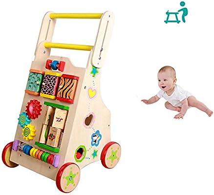 HBIAO Andadores para Bebes Andador de Madera para bebés con ...