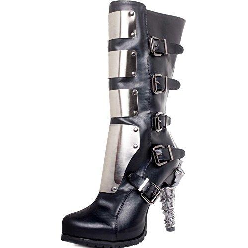 High Heel Biker Boots - 7