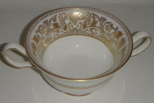 Cream Florentine (Wedgwood Florentine Gold W4219 Cream Soup)