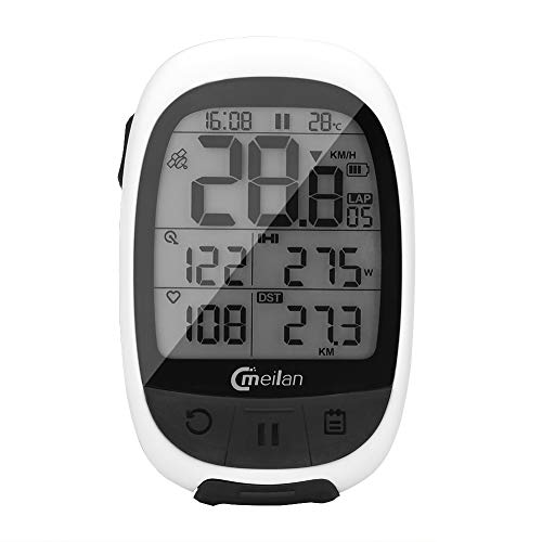 Meilan M2 Bluetooth Wireless Bike Computer IPX5 Waterproof Bicycle Computer Odometer Accurate Speed Tracking Motion Speedometer for Sports ANT+ Communication Protocol for Wireless Data Transmission