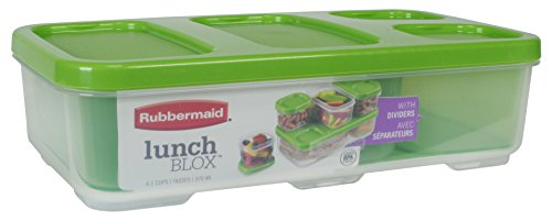 Rubbermaid LunchBlox Entree Food Container with Dividers, Ca