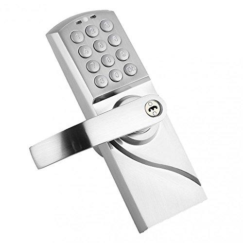 digital keyless electronic code door lock keypad security entry left handle. Black Bedroom Furniture Sets. Home Design Ideas