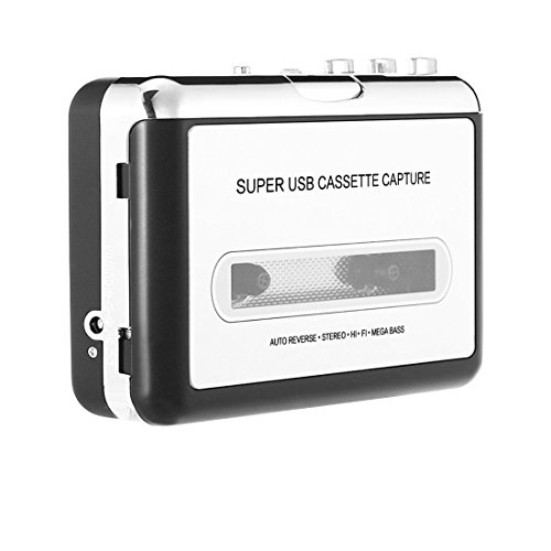 Cassette to MP3 Converter, Easy-Link Cassette Player Audio Tape Recorder Captures MP3 Audio Music via USB / Music Player - Convert Audio Tapes to MP3 / CD / iPod / PC