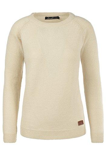 BLEND SHE Nele - Maglione da Donna, taglia:L;colore:Bone White (70016)