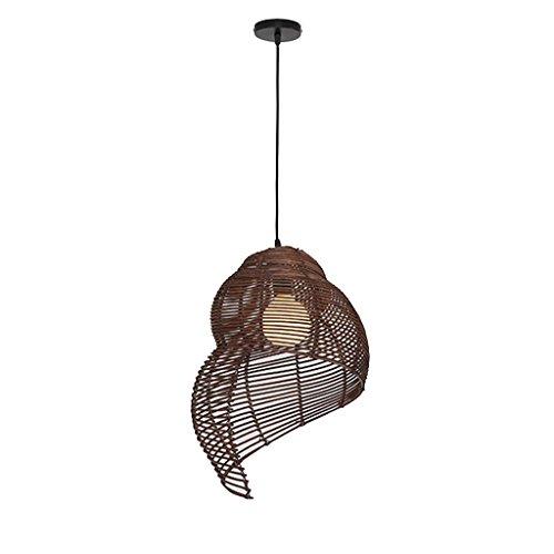 LOVELY Lámparas de Caracol de ratán Natural Retro Que tejen lámpara de Techo de Liubian para la Sala de Estar de la Sala...