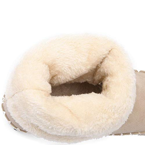 Bottes warm Coolcept Classique Beige Longue Frange Boots Femmes AX70wv