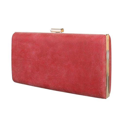 Ital-DesignClutch-tasche Bei Ital-design - Bolso de botón Mujer rojo