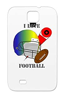 I Love Football Silver For Sumsang Galaxy S4 Sport Sports Football Case