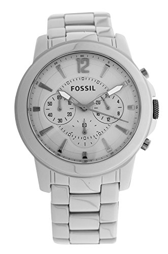 Fossil Watches, Men's Grant Chronograph Ceramic Watch Stone Grey