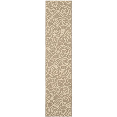 "Safavieh Courtyard Collection CY5141B Coffee and Sand Indoor/ Outdoor Runner (2'7"" x 8'2"")"