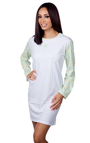 hering-womens-cotton-longsleeve-nightie-style-7619-green-s