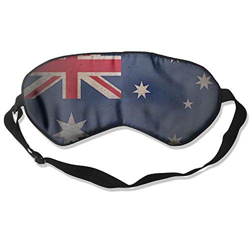 Longnankejilifeaa Sleep Eyes Masks Covers Retro Australia Flag Silk Sleeping Blindfold Design Adjustable Strap Eyeshade For Travelling Shift Work Night Noon Nap Yoga