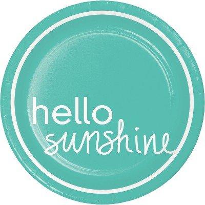 30ct Aqua Hello Sunshine Snack Plate - Spritz153; Multicolor ()