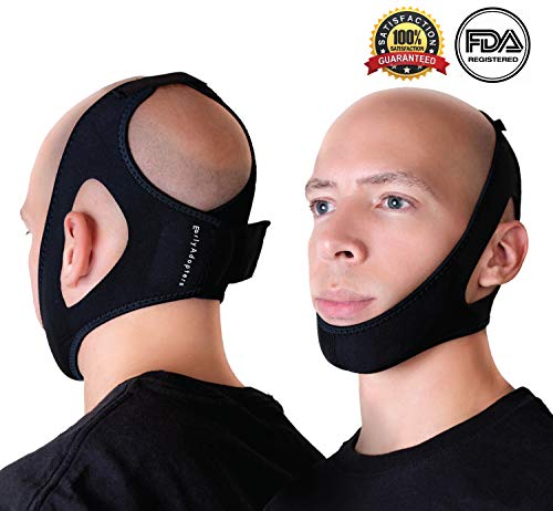 Anti-Snoring Chin Strap Device by EarlyAdopters | Adjustable Antisnore Head Band for Men and Women Sleep Aid Snoring Devices