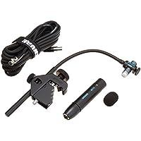 Micrófono de tambor de condensador cardioide miniatura Shure Beta 98AD /C (incluye preamplificador en línea RPM626, soporte de tambor A98D y cable de 25 ')