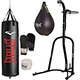Everlast Dual Station Heavy Bag Stand, 100-lb, Speedbag, Value Bundle