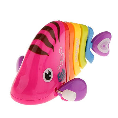 People Favorite Gifts Kids Mini Colorful Swing Fish Wind Up Toy Birthday Toys Clockwork Clown Fish Present(Random Color)