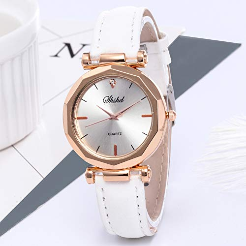 Women Watch Sale Clearance Vintage Matte Faux Leather Rhombus Rhinestones Quartz Soft Wrist Watch by Gaweb (Image #8)
