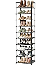 Shoe Rack, Sturdy Shoe Organizer for Closet,Shoe Rack for Closets,Shoe Rack for Entryway,Shoe Storage,Shoe Shelf, Free Standing Shoe Racks(10 Tier)