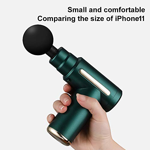 Mini Portable Massage Gun, Electric Cordless Deep Tissue Percussion Muscle Massager,4 MassageHeads,Type-C LED Handheld Electric Body Massager Sports Portable, Quiet and Ultra-Light