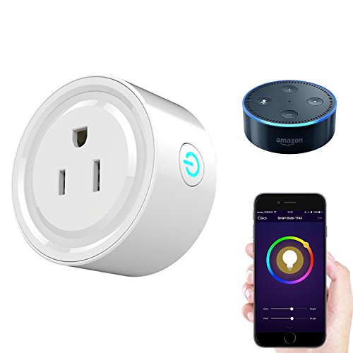 2018 Mini Smart Plug Alexa Accessories Outlet, Compatible with Google Home/Alexa Accessories,WiFi Smart Socket Outlet Remote Control,No Hub Required (Amazon Deals)